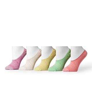 Muk Luks Women's Microfiber Foot Liners (5 Pairs)