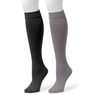 Muk Luks Women's Fleece-lined Knee-high Socks (2 Pairs)
