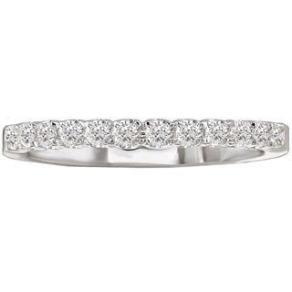 Avanti 14k White Gold 1/4ct TDW Diamond Wedding Band