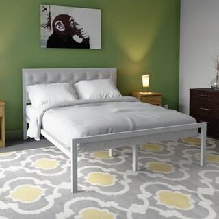 Mia Queen Vinyl Platform Bed Frame