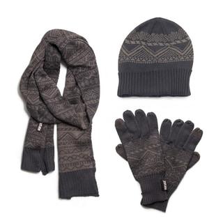 Muk Luks Men's Hat, Scarf, and Texting Glove Set