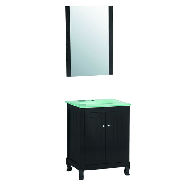 24 Inch Wide Single Sink Bathroom Vanity In Black Free Shipping Today 16782440