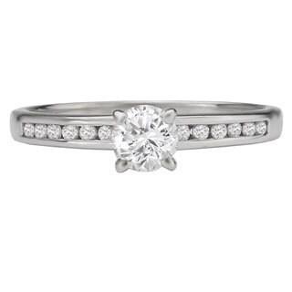 Avanti 14k White Gold 1/2ct TDW Channel-set Diamond Ring