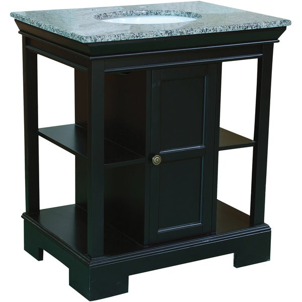 30 Inch Wide Single Sink Bathroom Vanity In Black Free