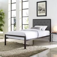 Mia Twin Fabric Platform Bed