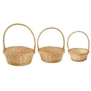Wald Imports Willow Baskets (Set of 3)