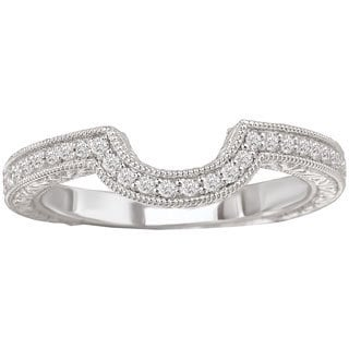 Avanti 14k White Gold 1/7ct TDW Curved Matching Diamond Wedding Band (G-H, SI1-SI2)