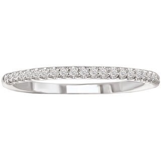 Avanti 14k White Gold 1/10ct TDW Diamond Wedding Band