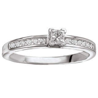 Avanti 14k White Gold 1/2ct TDW Princess-cut Diamond Engagement Ring (G-H, SI1-SI2)