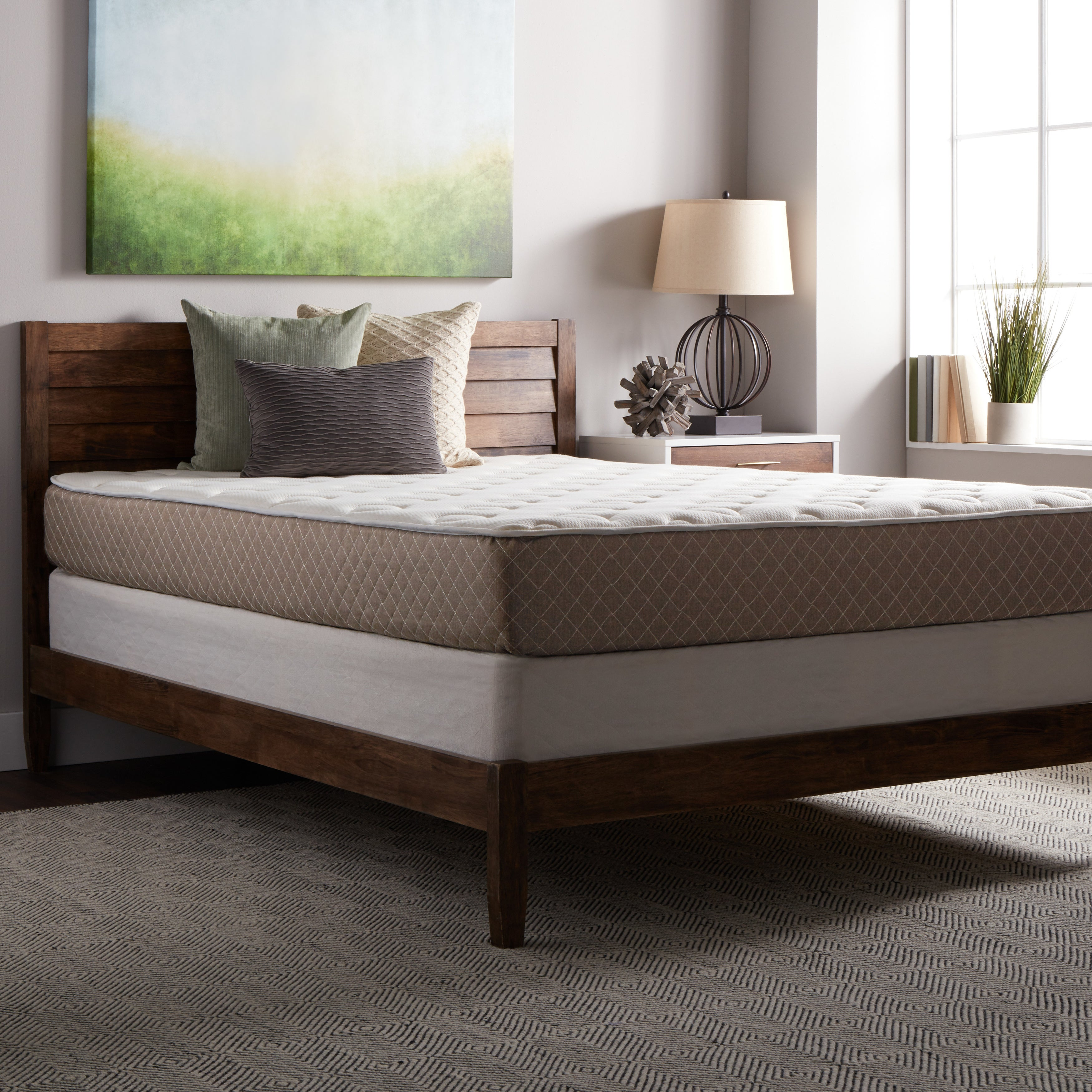 Select Luxury Medium-firm Quilted-top 10-inch Queen Size ...