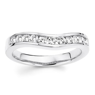 Boston Bay Diamonds 14k White Gold 1/4ct TDW Diamond Contour Band Ring (I, I1)