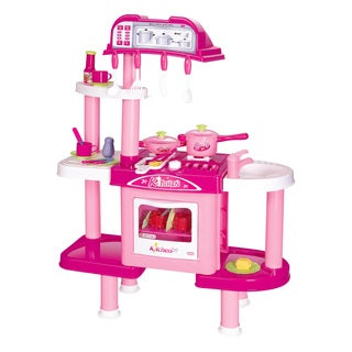Berry Toys Deluxe Cooking Pink Plastic Play Kitchen