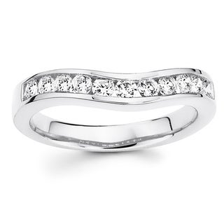 Boston Bay Diamonds 14k White Gold 1/10ct TDW Diamond Contour Ring (H-I, I1-I2)
