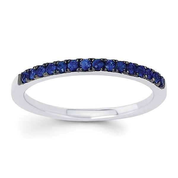Boston Bay Diamonds 14k White Gold Blue Sapphire Stackable Band