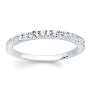 Boston Bay Diamonds 14k White Gold 1/4ct TDW Diamond Wedding Band Ring