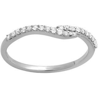 Elora 14k White Gold 1/5ct TDW Round-cut Diamond Anniversary Wedding Band (I-J, I2-I3)