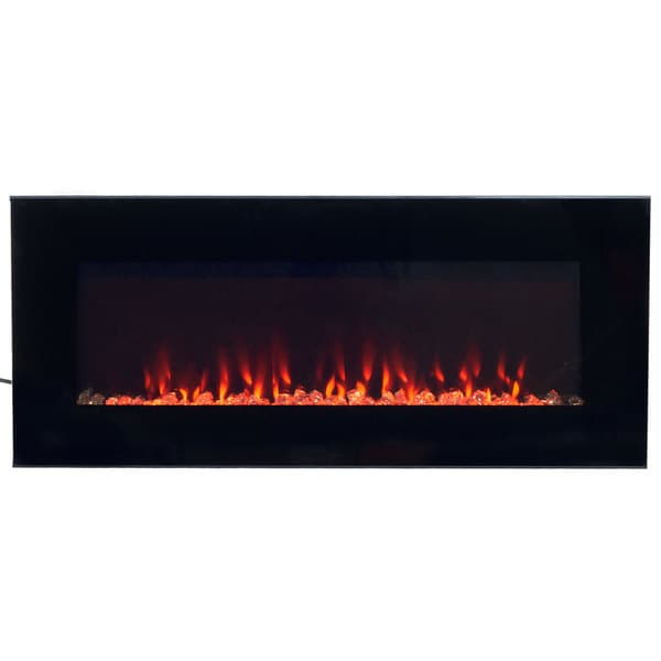 Electric Fireplace Wall Mounted, Led Fire & Ice Flame, With Remote 36 Inch By Northwest by Northwest