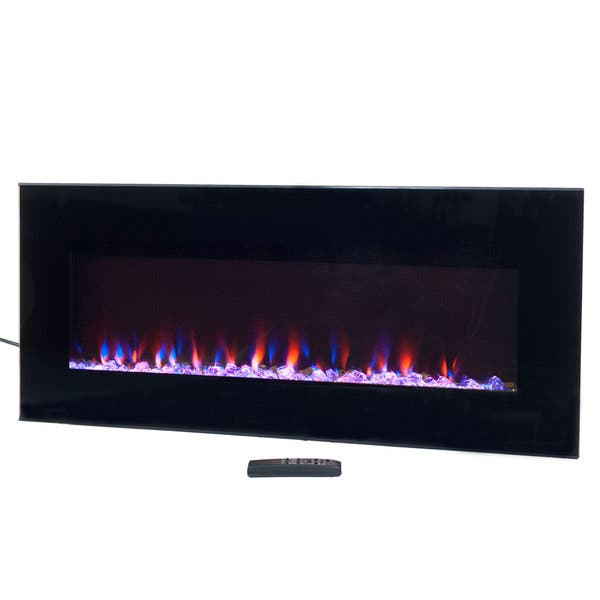 Electric Fireplace Wall Mounted Led Fire Ice Flame