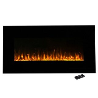 Electric Fireplace Wall Mounted, LED Fire & Ice Flame, With Remote 36 inch by Northwest (2 options available)