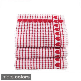 Kitchen Towels Heart Check (Set of 3)