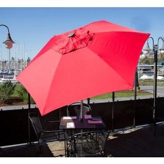 Push Up Aluminum Market 8.5-foot Patio Umbrella Adjustable Height