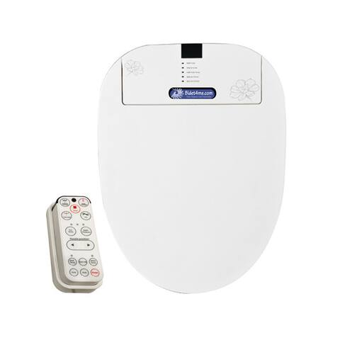 BIDET4ME E-200B Elongated Bidet Electronic Toilet Seat Elongated with Remote Control