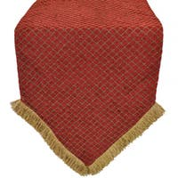 Sherry Kline Red Diamond Chenille Luxury Table Runner