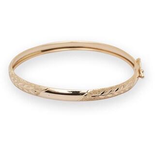 10k Yellow Gold 5.5-inch Flexible Baby Bangle Bracelet