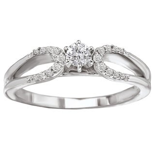 Avanti 14k White Gold 1/4ct TDW Round Brilliant Diamond Ring