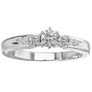 Avanti 14k White Gold 1/3ct TDW Round-cut White Diamond Engagement Ring (G-H, SI1-SI2)