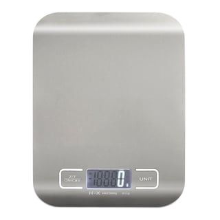 Insten Silver Handy Ultra-Slim 1-5000 Gram Digital Stainless Steel Kitchen Scale