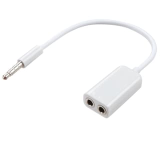 INSTEN 2-Port 5-Port White Male-to-female Universal Round Earphone Splitter with 3.5-millimeter Plug