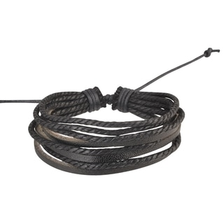 Zodaca Colorful Fashion Multi-string Leather Wrap Bracelet
