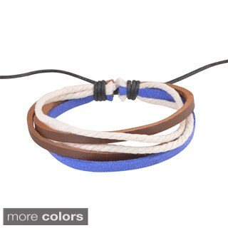 Zodaca Colorful Multistring Fashion Handmade Genuine 100-percent Leather Braided Bracelets