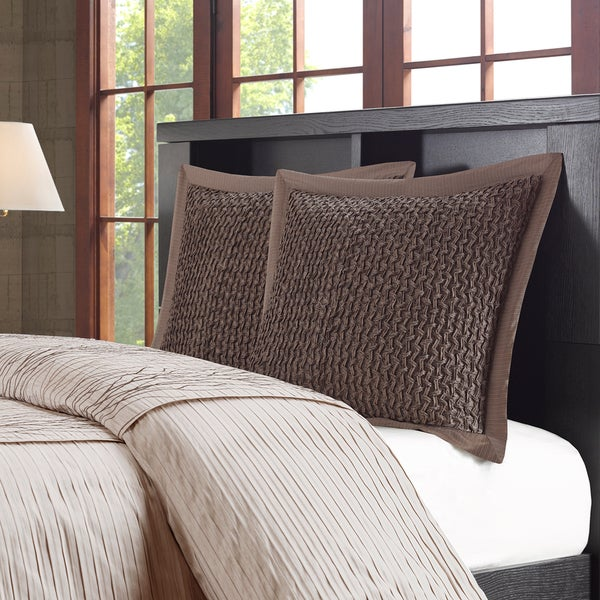 Metropolitan Home Eclipse Brown Jacquard Euro Sham