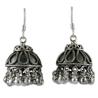 Handmade sterling silver silver bells chandelier earrings india handmade sterling silver x27silver bellsx27 chandelier earrings india mozeypictures Image collections