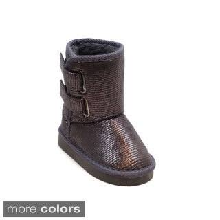 Blue Children's K-Ugena Shine boots|https://ak1.ostkcdn.com/images/products/9598619/P16784119.jpg?impolicy=medium
