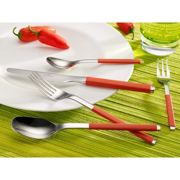 Shop Villeroy And Boch S Chili Red 20 Piece Flatware Set