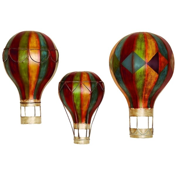 The Curated Nomad Lotta Metal Wall Decor Hot Air Balloons Set Of 3