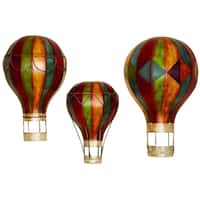 The Curated Nomad Lotta Metal Wall Decor Hot Air Balloons (Set of 3)