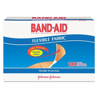 BAND-AID® Flexible Fabric Premium Adhesive Bandages (Box of 100)