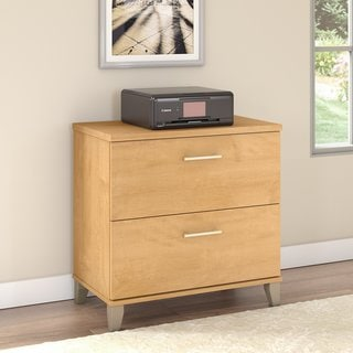 Somerset Lateral File Cabinet (Option: Brown)