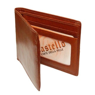 Castello Italian Leather Slim Side Flip Billfold Wallet