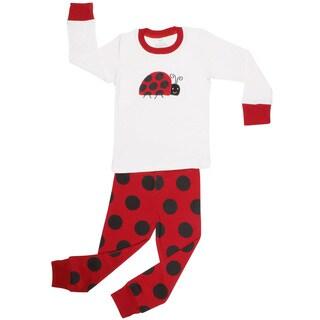Elowel Ladybug 2-piece Pajama set (Size 2T-8Y)