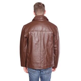 NuBorn Leather Men's Stephen Leather Jacket with Thinuslate