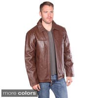 NuBorn Leather Men's Stephen Leather Jacket with Thinuslate