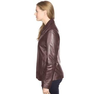 Mason & Cooper Women's Lisa Leather Scuba Jacket
