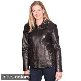 Mason & Cooper Women's Lisa Leather Scuba Jacket|https://ak1.ostkcdn.com/images/products/9599225/P16785067.jpg?impolicy=medium