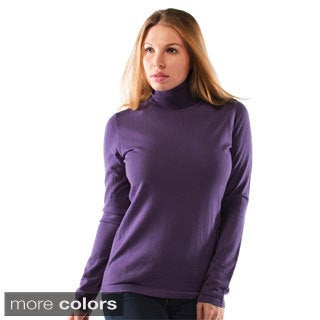 Women's Extra Fine Merino Wool Turtleneck Sweater