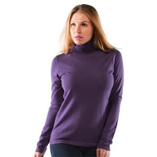 Women's Extra Fine Merino Wool Turtleneck Sweater